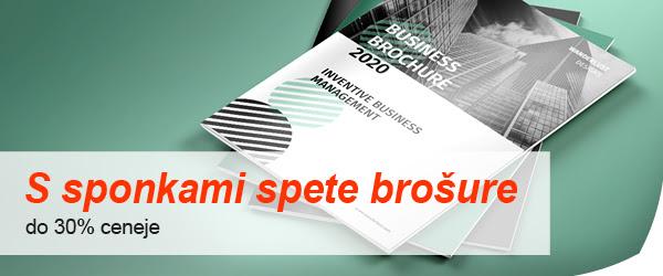 tisk brošur s sprenjanjem