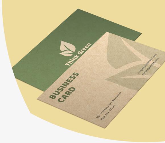 tisk vizit na recikliranem papirju