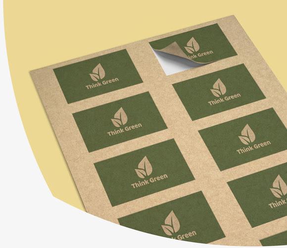 nalepke na recikliranem papirju