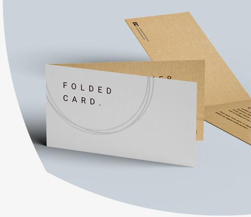 tisk voščilnic iz kraft papirja
